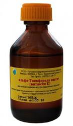 Альфа-токоферола ацетат (витамин Е), р-р д/приема внутрь [масл.] 100 мг/мл 50 мл №1 флаконы