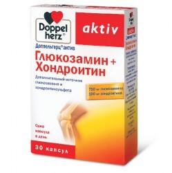 Доппельгерц актив глюкозамин+хондроитин, капс. 1232 мг №30